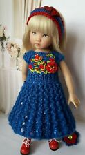 "Knit outfit /dress for doll 13"" Dianna Effner Little Darling hand made."