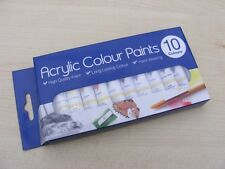 Brand New  Acrylic Paints Set of 10 for Artists Art