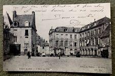 CPA. LE MANS. 72 - Veux Mans. 1908. L'Hôtel de Ville. Boulangerie. Café.