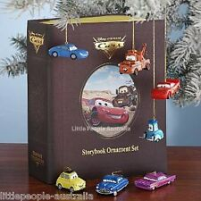 Disney Pixar Cars 7Pc Ornament Set CHRISTMAS TREE FIGURE COLLECTIBLE NEW