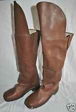 Knee Flap Boots - Size 14 - BROWN Leather - Special Order - 6-8 Week Delivery