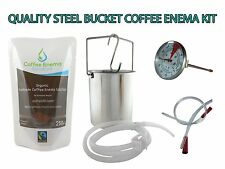 COFFEE ENEMA STARTER KIT - QUALITY STEEL BUCKET - GERSON - AUSTRALIA - ORGANIC