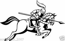 Medieval Knight Jousting Lance Horse decals for car/truck window laptop Novelty