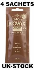 4 SACHETS L'BIOTICA BIOVAX NATURALS OILS ARGAN MACADAMIA COCONUT-HAIR MASK 20ML