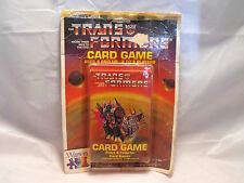 TRANSFORMERS CARD GAME PRODUCED IN 1985 BY WARREN, SEALED ON CARD
