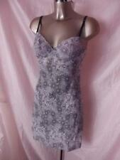 NEW LILAC DONNA L'OREN NIGHTGOWN SLIP WITH MATCHING THONG PANTIES SIZE MED