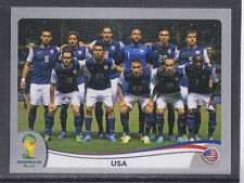 Panini-Brasil 2014 World Cup - # 546 Usa Team Group-Platinum