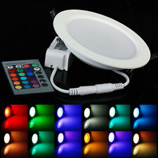Color Changing RGB 5W Downlight LED Recessed Lighting Ceiling Fixtures+IR Remote