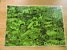 Sticker Bomb sheet 3c - Green - A4 size
