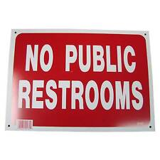 No Public Restrooms Business Information Policy Sign 10 inch x 14 inch