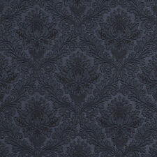 E538 Blue, Floral Durable Jacquard Upholstery Grade Fabric By The Yard