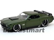 JADA 98168 1:24 BIG TIME MUSCLE 1970 FORD BOSS MUSTANG 429 GREEN DIECAST MODEL