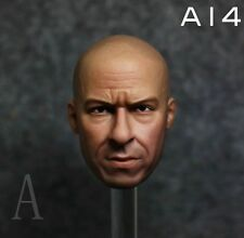 Custom 1/6 Vin Diesel Head Sculpt  for HT Phicen  Action Figure Body