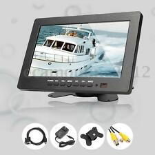 7'' Inch 3CH TFT LCD Color Video Audio VGA AV BNC Monitor Screen For DVR PC CCTV
