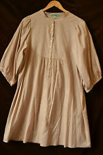 Cotton Tunic Top by Princesse Tam Tam Square Buttons Medium Dusky Pink (S112)