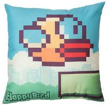NEW FLAPPY BIRDS PIPES 40CM x 40CM SQUARE CUSHION GIRLS BOYS BEDROOM ACCESSORIES