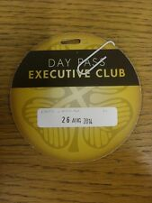 26/08/2014 Ticket: Celtic v Maribor [Champions League] Executive Club Day Pass .