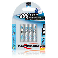 4 x Ansmann maxE Akku Micro AAA Ni-MH 1,2V / 800mAh für Doro, WT87