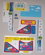 New! The Simpsons Pinball Party Pinball Machine Playfield Decal Set 802-5000-77