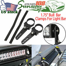 "2x Universal 1.75"" Bull Bar Clamps For LED Light Bar Driving Mounting Brackets"