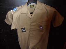 South African Air Scout Shirt with 4 Badges (c .1960's ) Size Medium
