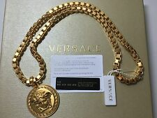 AUTHENTIC GIANNI VERSACE MEDUSA NECKLACE CHAIN MATTE GOLD PLATED