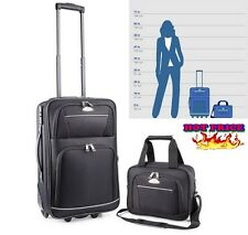 2-Pcs Carry-On Luggage Sets Suitcase Travel Bag Suitcases Cabin 2 Wheel Tote NEW