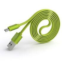 PINENG PN-303 Android High Speed Noddle 2A Micro USB Charge/Data Cable(1m)Green