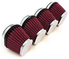 Set of 4 Chrome Performance Oval Pod Filters - 54mm - Honda CB650/750/900/1000