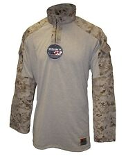 USMC  Desert Digital FROG Marpat Combat Shirt MARINES Medium Long M/L, NWT