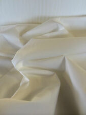 """100"""" Plain Ivory/Natural Coloured 100% Poly-Cotton Fabric Price Per Metre!"""