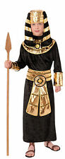 Kids Pharaoh Egyptian Costume King Tut Child Size Medium 8-10