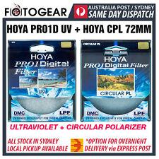 Genuine HOYA Pro1D UV Ultraviolet + CPL Circular Polarizer Camera 72mm Filter