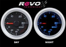 REVO TECHNICA Turbo Boost Vacuum Gauge Meter 52mm BLUE LED with Mount Kit