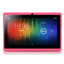 """iRULU 7"""" Tablet PC Android 4.4 Quad Core 8GB 2.0MP Cameras WIFI Cute Pink US"""