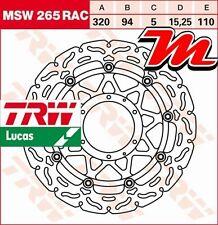 Disque de frein Avant TRW Lucas MSW 265 RAC Honda CBR 1000 RR Fireblade SC59 08-