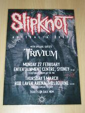 SLIPKNOT - TRIVIUM - 2012  AUSTRALIAN TOUR -  LAMINATED TOUR POSTER