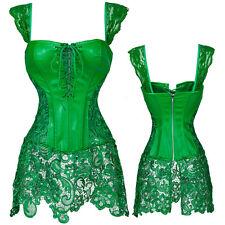 Women's Corsets and Bustiers Wedding Party Dress Waist Cincher Mini Skirt Corset