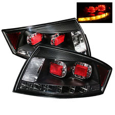 Pair LED Tail Lights Lamps for Audi TT 2000-2006 Black with Clear Lens 1 Yr Warr
