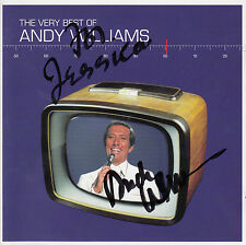 ANDY WILLIAMS The Very Best Of SIGNED / AUTOGRAPHED 1999 UK 2-CD + CoA