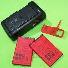 For T-Mobile Nokia Lumia 521 Standard 2x 1800mAh Battery W/ Dock Charger Bracket