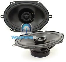 "POWERBASS S-682 CAR 6"" X 8"" 120W RMS 2-WAY MYLAR TWEETERS COAXIAL SPEAKERS NEW"