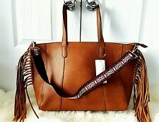 STRADIVARIUS TOTE FRINGED CAMEL AZTEC BAG SHOPPER HANDBAG TOTE ZARA GROUP