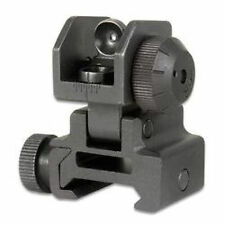 Tactical Detachable REAR Flip up Iron Sight Fits all Picatinny/Weaver
