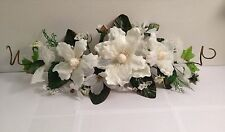 "24"" CREAM Silk Flower Magnolia Swag Home Wedding Centerpiece Arch Gazebo Decor"
