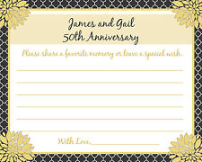 24 - Personalized 50th Anniversary Memory and Wishes Cards - Love Blossoms
