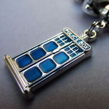 Doctor Who Blue Police Box Tardis European Large Hole Charm Pendant 27mm