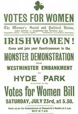 Irish Women Votes for Women - Hyde Park - Irishwomen A3 Art Poster Print