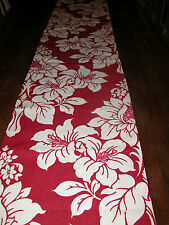 Laura Ashley Anya Fabric - Lined Table Runner Cranberry and Cream 90 inches NEW!