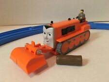 Thomas Trackmaster TERENCE Bulldozer +LOG CARGO -2002 TOMY Motorized Train RARE!